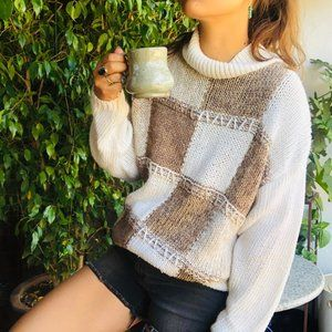 Vintage | Needle & Thread Patchwork Knit Sweater